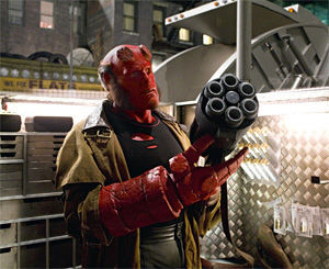 Hellboy, taking advantage of the Supreme Court's latest Second Amendment decision