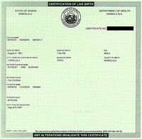 Obama's Certificate of Live Birth, or as Taitz calls it, a