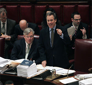 Solid Senate citizen: Schneiderman makes a point.